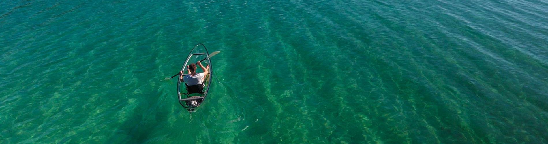 Exploration kayak translucide