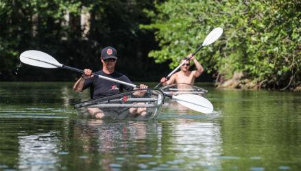 Kayak-transparent-Sorgue-rivière